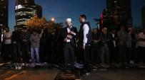 ALPEREN OCAKLARı - Levent'te İsrail Konsolosluğu Önünde Eylem