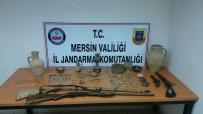 TARİHİ ESER KAÇAKÇILIĞI - Mersin'de Kaçak Kazı Yapan 1 Kişi Gözaltına Alındı