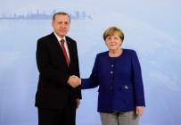 OLAĞANÜSTÜ TOPLANTI - Erdoğan Merkel'le Filistin'i Görüştü