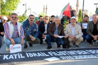 OTURMA EYLEMİ - Sivas'ta Filistin İçin Oturma Eylemi