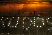 Işıklarla Kudüs Yazısı Yazarak İsrail'i Protesto Ettiler