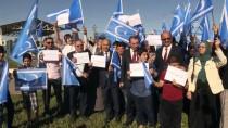 NEÇİRVAN BARZANİ - Türkmenler, BM Erbil Ofisi Önünde Gösteri Düzenledi