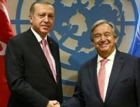 GUTERRES - Erdoğan, BM Genel Sekreteri ile görüştü