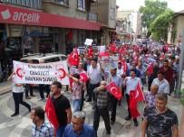 ŞEREF AYDıN - Havran'da İsrail Ve Amerika Protesto Edildi