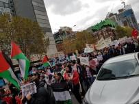 MELBOURNE - Avustralya'da Filistin'e Destek Gösterisi