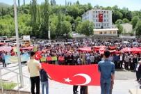 İspir'de Filistin'e Destek Yürüyüşü