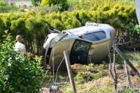 Biga'da Otomobil Devrildi Açıklaması 1 Yaralı