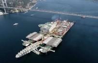 KIYI EMNİYETİ - Dev Geminin Boğaz'dan Geçişi Sürüyor