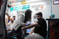 LÜKS OTOMOBİL - Kaldırıma Çarpan Lüks Otomobil Takla Attı Açıklaması 4 Yaralı