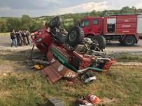 BÜNYAMİN K - Orman İtfaiye Aracı Takla Attı Açıklaması 4 Yaralı