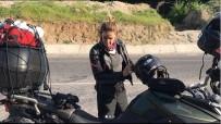 MOTOSİKLET KAZASI - Ünlü oyuncu Kaz Dağları'nda kaza geçirdi