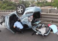 BERFIN - Kocaeli'de Kontrolden Çıkan Otomobil Takla Attı Açıklaması 1'İ Bebek 4 Yaralı