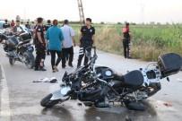 YUNUS TİMLERİ - Polis Limon Hırsızlarını Kovalarken Kaza Yaptı Açıklaması 2 Ağır Yaralı