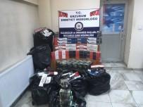 KAÇAK SİGARA - Erzurum'da 39 Bin 67 Paket Kaçak Sigara Ele Geçirildi