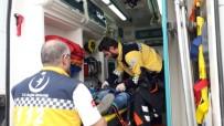 HÜSEYIN ATAK - Kars'ta Trafik Kazası Açıklaması 1 Yaralı