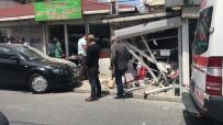 FATIH SULTAN MEHMET - (Özel) Sarıyer'de Kontrolden Çıkan Lüks Otomobil İş Yerine Daldı