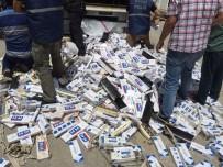 GİZLİ BÖLME - Tırın Dorsesinin Altından 18 Bin 500 Paket Kaçak Sigara Çıktı
