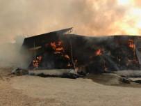 SAMANLıK - 15 Bin Paket Saman Yangında Kül Oldu