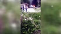 KOZCAĞıZ - Bartın'da Park Halindeki Minibüste Yangın
