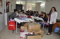 EL SANATLARI - Halk Eğitim Kursuna Nakış Ve Kumaş Desteği