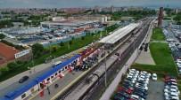 TEST SÜRÜŞÜ - Halkalı-Gebze Banliyö Hattı Test Sürüşü Havadan Görüntülendi