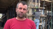 İNŞAAT İŞÇİLERİ - İnşaat İşçilerinin Zorlu Ramazan Mesaisi