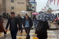 DOĞU ANADOLU - Erzurum'da Doluyla Karışık Sağanak Yağış Etkili Oldu
