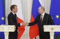 BASIN TOPLANTISI - Putin Ve Macron Nükleer Anlaşmayı Görüştü