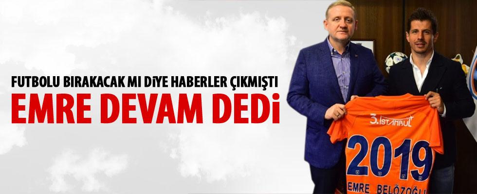 Emre Belözoğlu 1 yıl daha Medipol Başakşehir'de