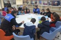 KÜTÜPHANE - Polis Ve Köy Okulu Öğrencileri Bir Arada Kitap Okudu