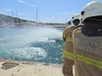 YANGIN TATBİKATI - Çeşme Marina'da Yaz Öncesi Yangın Tatbikatı