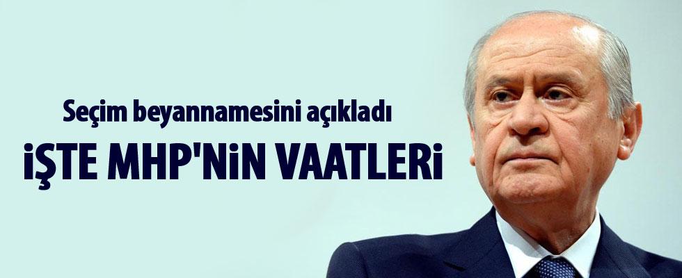 Bahçeli MHP'nin seçim bildirgesini açıkladı