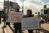 PROTESTO - ABD'de Evsizlere Destek Gösterisi