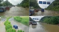 ÜST GEÇİT - Bursa-İstanbul Karayolunu Sel Bastı