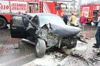 HAYDARPAŞA - E-5'Te Sıkışmalı Trafik Kazası Açıklaması 1 Yaralı