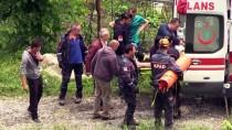 DİREKSİYON - Fındık Bahçesine Devrilen Otomobilin Sürücüsü Yaralandı