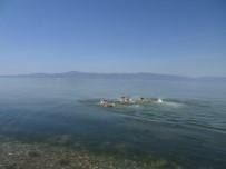Mudanya'da Gençler Serinlemek İçin Kendilerini Denize Bıraktılar