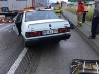 Trafik Işıklarında Duran Tıra Çarpan Otomobilin Sürücüsü Öldü