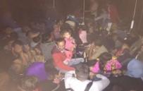 TAŞBURUN - 67 Kaçak Göçmenin 30'U Çocuk Çıktı