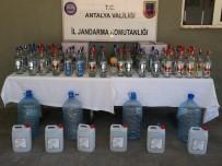 KAÇAK İÇKİ - Antalya'da 170 Litre Kaçak İçki Yakalandı