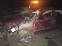 Otomobil Takla Attı Açıklaması2 Yaralı