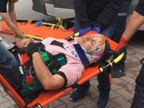 İZZET BAYSAL DEVLET HASTANESI - Bolu'da, 5 Metreden Düşen Temizlik İşçisi Yaralandı