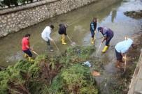 KIŞ MEVSİMİ - Erdemli'de Sazlık Ve Çamurla Dolan Kanallar Temizleniyor