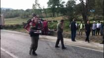 BÜNYAMİN K - Orman İtfaiye Aracı Takla Attı, Yaralı Helikopterle Taşındı