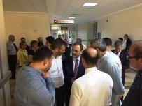 Başkan Şahin, Kaza Geçiren İYİ Parti Heyetini Hastanede Ziyaret Etti