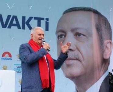 Başbakan Yıldırım Açıklaması 'İnce Eleyip Sık Dokuyacaksınız; İnce'yi Eleyip Erdoğan'ı Seçeceksiniz'