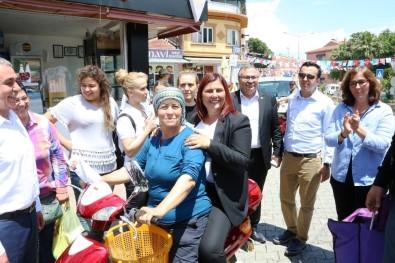 Başkan Çerçioğlu, Yenipazar'da Motosikletle Seçim Çalışması Yaptı