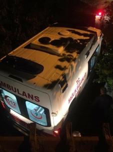 Hasta Almaya Giden Ambulans Çamura Saplandı