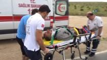 Karaman'da Kamyonetler Çarpıştı Açıklaması 3 Yaralı