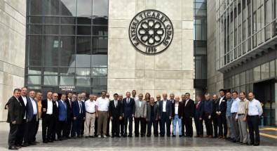 Kayseri Sarraflar Ve Kuyumcular Derneği Yönetim Kurulu'ndan Başkanlarına Ziyaret